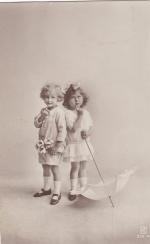 Почтовая карточка Дети 1923 год