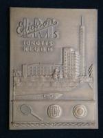 Плакета  Швеция 1958 год Спортивный клуб Эриксон. Соревнования по теннису