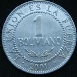 1 боливиано 2001 год Боливия