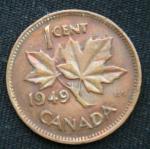 1 цент 1949 год Канада